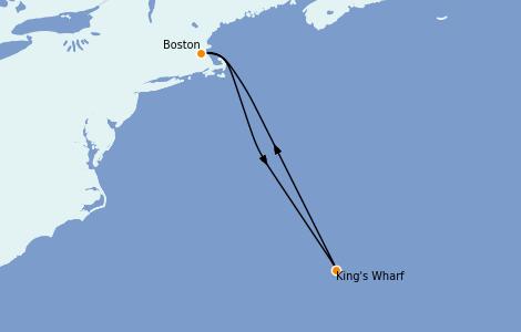 Itinerario del crucero Canadá 4 días a bordo del Norwegian Pearl