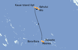 Itinerario de crucero Hawaii 13 días a bordo del Norwegian Spirit