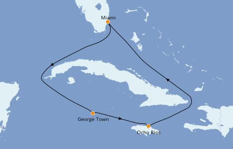 Itinerario del crucero Caribe del Oeste 5 días a bordo del Norwegian Getaway