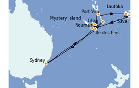 Itinerario de crucero Australia 2022 15 días a bordo del Serenade of the Seas