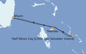Itinerario de crucero Caribe del Este 5 días a bordo del Carnival Sunrise