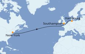Itinerario de crucero Islas Británicas 10 días a bordo del Queen Mary 2