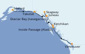 Itinerario de crucero Trasatlántico y Grande Viaje 2022 8 días a bordo del Norwegian Jewel