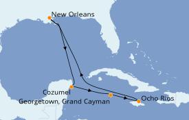 Itinerario de crucero Caribe del Oeste 8 días a bordo del Norwegian Getaway