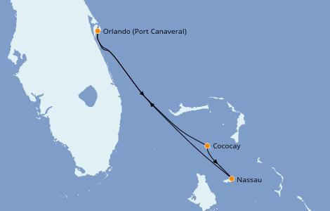 Itinerario del crucero Caribe del Este 4 días a bordo del Independence of the Seas