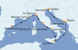 Itinerario de crucero Mediterráneo 10 días a bordo del Norwegian Spirit