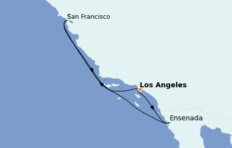 Itinerario del crucero California 5 días a bordo del Grand Princess