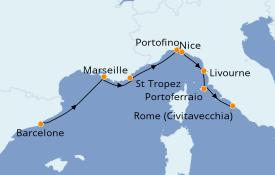 Itinerario de crucero Mediterráneo 9 días a bordo del Azamara Pursuit