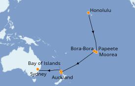 Itinerario de crucero Australia 2020 19 días a bordo del Serenade of the Seas