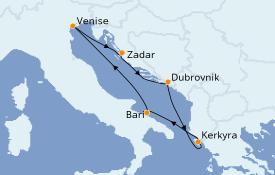 Itinerario de crucero Grecia y Adriático 6 días a bordo del Costa Deliziosa