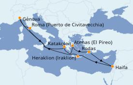 Itinerario de crucero Grecia y Adriático 12 días a bordo del MSC Magnifica