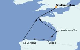 Itinerario de crucero Mediterráneo 8 días a bordo del Sky Princess