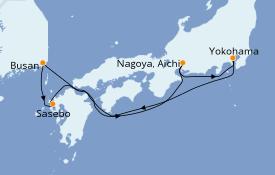 Itinerario de crucero Asia 7 días a bordo del Costa neoRomantica