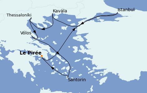 Itinerario del crucero Grecia y Adriático 7 días a bordo del Celestyal Crystal