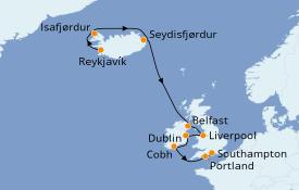 Itinerario de crucero Islas Británicas 11 días a bordo del Norwegian Star