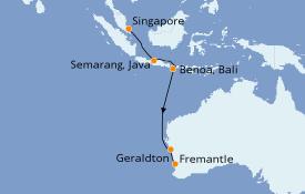 Itinerario de crucero Australia 2020 13 días a bordo del Azamara Pursuit