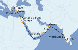 Itinerario de crucero Grecia y Adriático 20 días a bordo del Silver Cloud Expedition