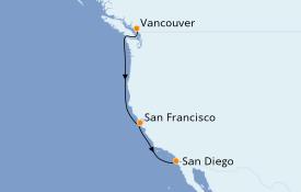 Itinerario de crucero California 6 días a bordo del ms Eurodam