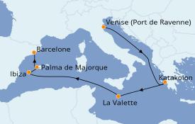 Itinerario de crucero Mediterráneo 8 días a bordo del Rhapsody of the Seas