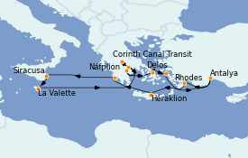 Itinerario de crucero Grecia y Adriático 13 días a bordo del Le Bellot