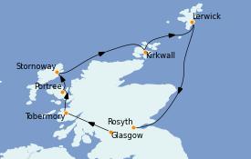 Itinerario de crucero Islas Británicas 8 días a bordo del Le Champlain