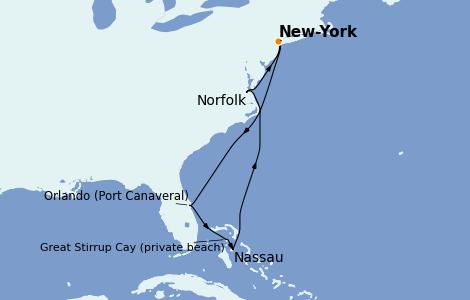 Itinerario del crucero Canadá 7 días a bordo del Norwegian Getaway