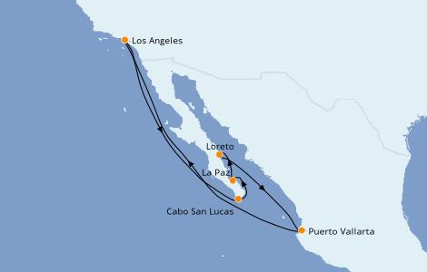 Itinerario del crucero Riviera Mexicana 10 días a bordo del Grand Princess