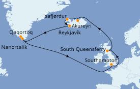 Itinerario de crucero Exploración polar 17 días a bordo del Island Princess