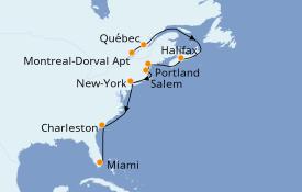 Itinerario de crucero Canadá 15 días a bordo del Seabourn Quest