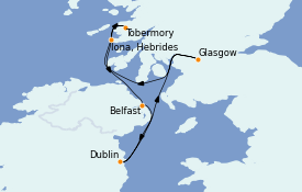 Itinerario de crucero Islas Británicas 7 días a bordo del Le Dumont d'Urville