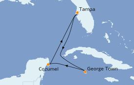 Itinerario de crucero Caribe del Oeste 6 días a bordo del Carnival Paradise