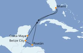 Itinerario de crucero Caribe del Oeste 8 días a bordo del Carnival Sunrise