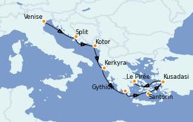Itinerario de crucero Grecia y Adriático 8 días a bordo del Seven Seas Explorer