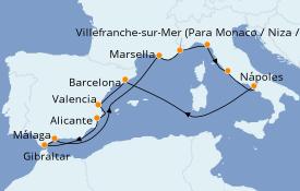 Itinerario de crucero Mediterráneo 13 días a bordo del Celebrity Silhouette