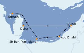 Itinerario de crucero Dubái 8 días a bordo del MSC Seaview