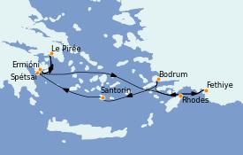 Itinerario de crucero Grecia y Adriático 8 días a bordo del Seabourn Encore