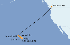 Itinerario de crucero Hawaii 11 días a bordo del Radiance of the Seas