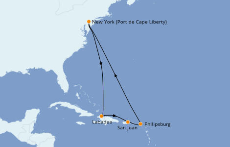 Itinerario del crucero Caribe del Este 9 días a bordo del Anthem of the Seas