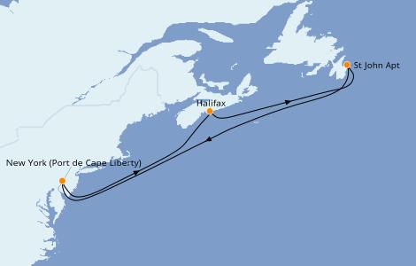 Itinerario del crucero Canadá 5 días a bordo del Oasis of the Seas