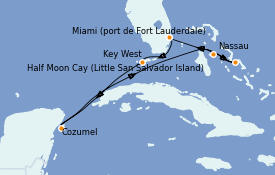 Itinerario de crucero Bahamas 8 días a bordo del ms Nieuw Amsterdam