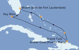 Itinerario de crucero Caribe del Este 8 días a bordo del ms Nieuw Amsterdam