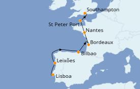 Itinerario de crucero Atlántico 12 días a bordo del Azamara Quest