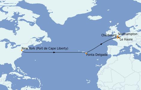 Itinerario del crucero Trasatlántico y Grande Viaje 2022 11 días a bordo del Anthem of the Seas