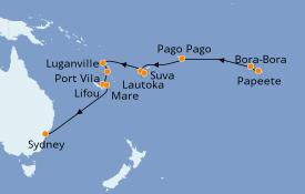 Itinerario de crucero Australia 2020 17 días a bordo del Norwegian Jewel