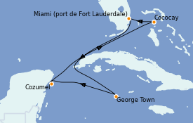 Itinerario de crucero Caribe del Oeste 7 días a bordo del Odyssey of the Seas