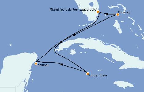 Itinerario del crucero Caribe del Oeste 6 días a bordo del Odyssey of the Seas