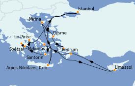 Itinerario de crucero Grecia y Adriático 8 días a bordo del Seabourn Ovation