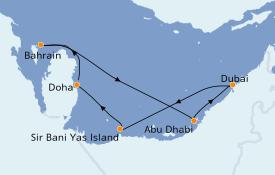 Itinerario de crucero Dubái 8 días a bordo del Jewel of the Seas