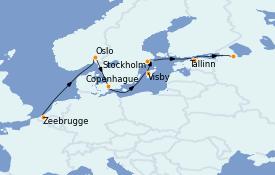 Itinerario de crucero Mar Báltico 12 días a bordo del MS World Explorer
