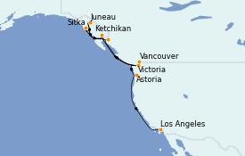 Itinerario de crucero Alaska 13 días a bordo del MS Regatta